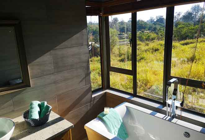 Guest bathroom with a view