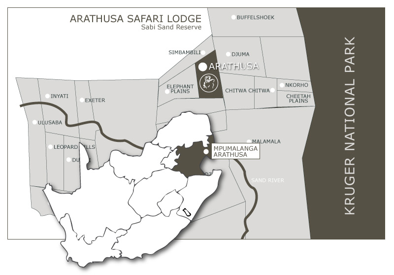 Arathusa Location Map